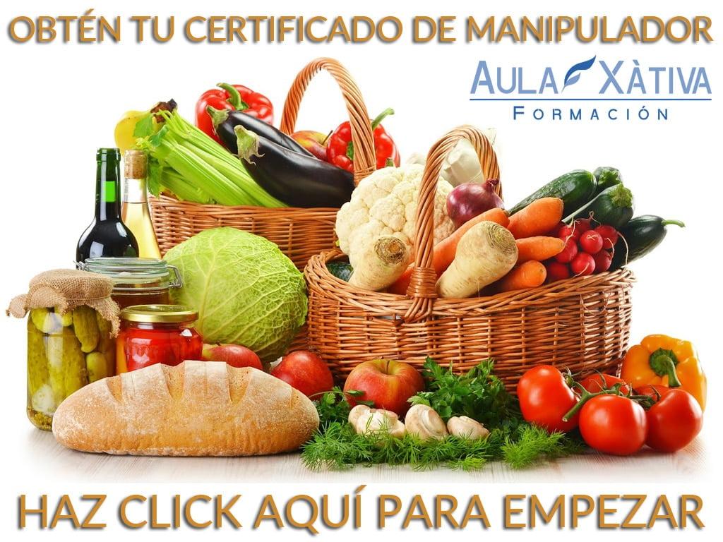 certificado de manipulador de alimentos - aula xàtiva