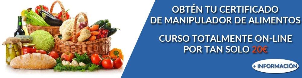 Curso certificado carnet manipulador de alimentos
