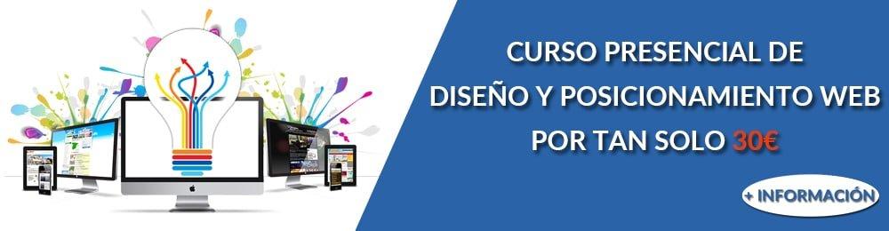 Curso de diseño y posicionamiento web presencial en Xàtiva