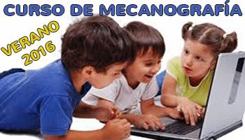 Curso de mecanografía para niños - Verano 2016