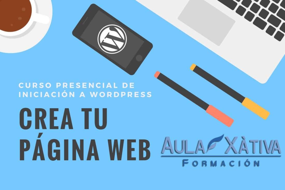 Curso presencial diseño web con Wordpress en Xàtiva