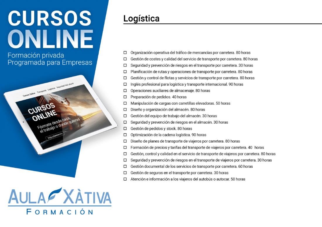 Listado de cursos formación sector logística
