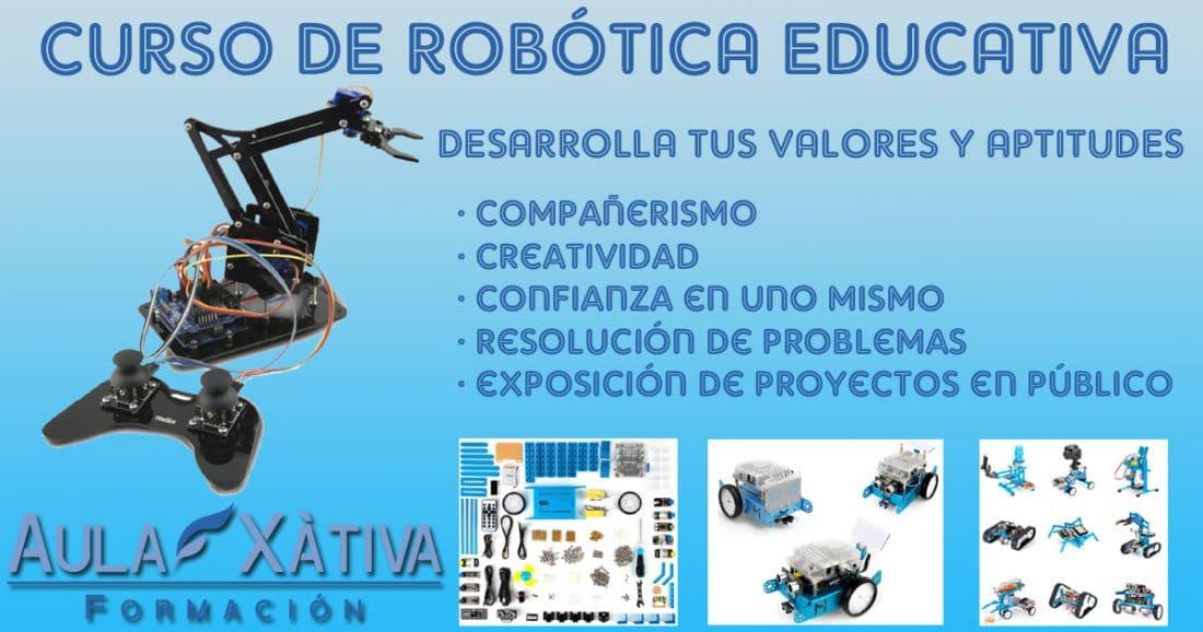 Cursos de robótica educativa en Xàtiva y Valencia